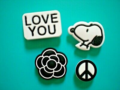 £7.07 • Buy Shoe Charm Beach Button Plug Compatible W/Crocs Shoes Snoopy Peace Sign For Band