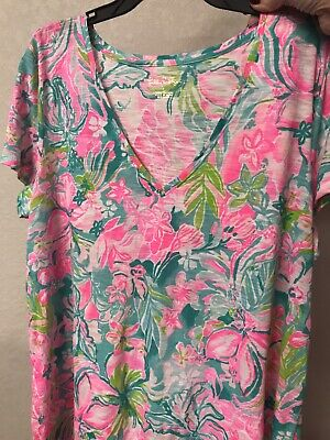 $39 • Buy New LILLY PULITZER MULTI HOT ON THE SCENE  ETTA TOP L Large