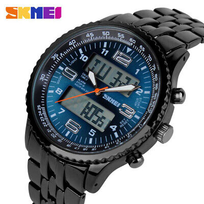 AU28.96 • Buy Luxury Men's Led Watches Steel Analog Digital Outdoor Sport Military Wristwatch