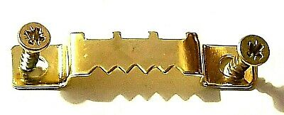 Saw Tooth Picture Hanger With Screws 42mm Canvas Hanging Brass Plated • 2.99£