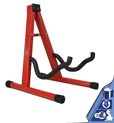 $ CDN13.83 • Buy Guitar Stand Red Folding Metal Electric Acoustic Free Standing A Frame Stand