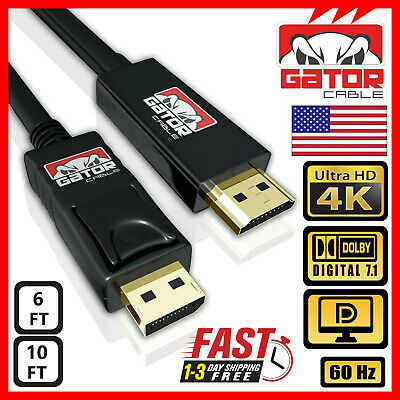 $ CDN12.61 • Buy 4K Display Port DP To HDMI Cable 60Hz 2160P 25.92Gbps HDR Audio Video Adapter PC
