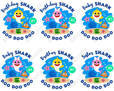 $3 • Buy Baby Shark  Family Member  Birthday  T Shirt Iron On Transfer