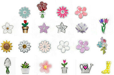 $ CDN6.75 • Buy Real Origami Owl Charm~ Rose,daisy,cherry,lotus,tulips,sunflower,succelent,spade