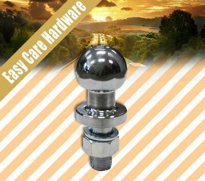 AU17.50 • Buy Tow Toll Ball 50 Mm 3500 KG 3.5 Ton Trailer Hitch Chrome Towball 4WD