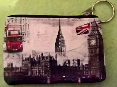 £1.75 • Buy Purse/Wallet -LONDON THEME -Buy 2+ Items-Save 10%-Handy Size-Zip Top-Coins-Notes