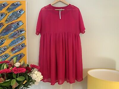 AU15 • Buy BNWT! ASOS Maternity Dress Size 8 Pink A-line Slip With Floaty Short Sleeve Over