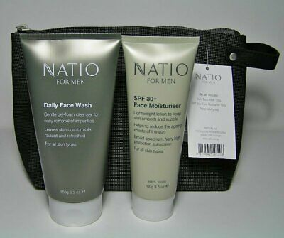 AU12 • Buy NATIO Men 2pce Skin Care Pack With TOILET BAG * NWT Unwanted Gift *