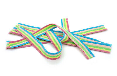 Vidal Rainbow Strips Belts Sweets Jelly Gummy Gift Retro Candy Fruit • 11.49£