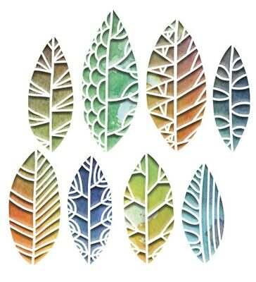 £12.50 • Buy Tim Holtz Cut Out Leaves Thinlits Dies Sizzix 664431