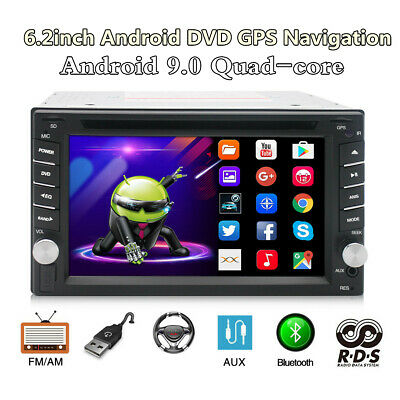 $202.37 • Buy 6.2in 2Din Android 9.0 Bluetooth Car Stereo DVD Player WIFI Radio GPS Navigation