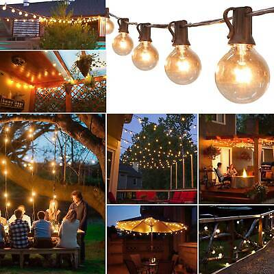 50ft (50 Clear Bulbs)Weatherproof Globe String Festoon Lights G40 Indoor Outdoor • 22.39£