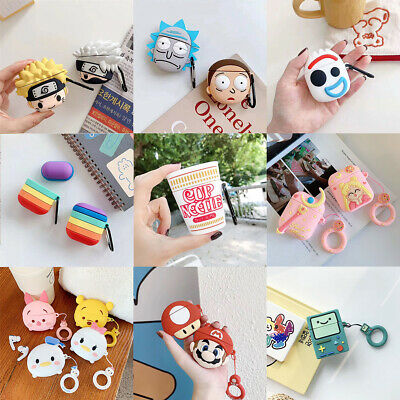 $ CDN6.29 • Buy For AirPods Case Protective 3D Cartoon Design Silicone Earphone Charging Cover