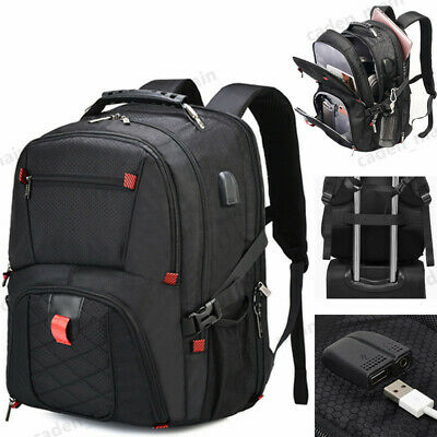 17  Large Laptop Travel Bag Backpack USB Waterproof Notebook School Swiss Bag • 26.99£