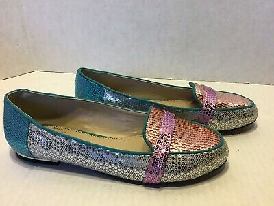 $24.99 • Buy RARA AVIS Sequin Smoking Loafers Flats Shoes Size 8.5 M Sequins