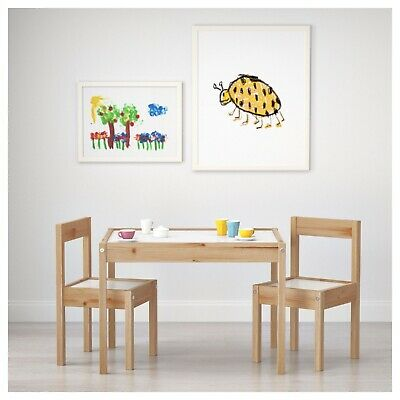 Children Wooden Table & 2 Chairs Kids Child Boy Girl Bedroom Furniture Play Room • 39.99£