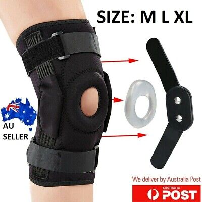 AU18.28 • Buy Adjustable Double Metal And Hinged Knee Brace Support Protection Arthritis Sport