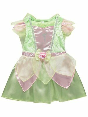 £17.99 • Buy BABY Girl Disney Tinker Bell Party Costume Fancy Dress Outfit Detachable Wings