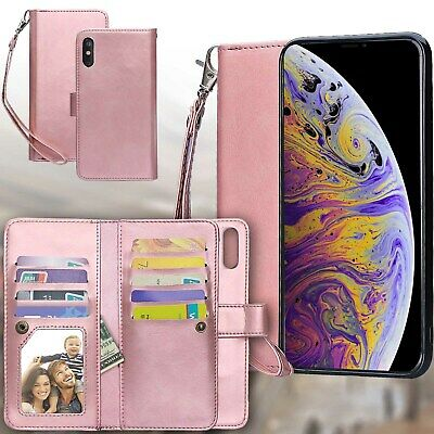 AU22.79 • Buy Women Rose Gold Folio Flip Case With Card Holder For Apple IPhone Xs Max 6.5
