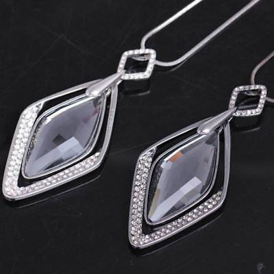 AU7.63 • Buy Long Necklace And Pendant For Women Geometric Jewelry Crystal
