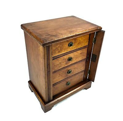 Antique Wooden Wellington Collectors Chest Of Drawers / Cabinet / Box • 245£