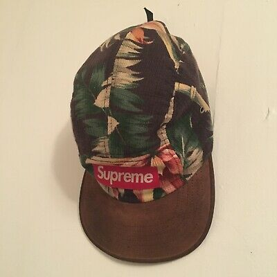 $ CDN250 • Buy Supreme Navy Floral Camp Hat 5 Panel 2012 * Rare *
