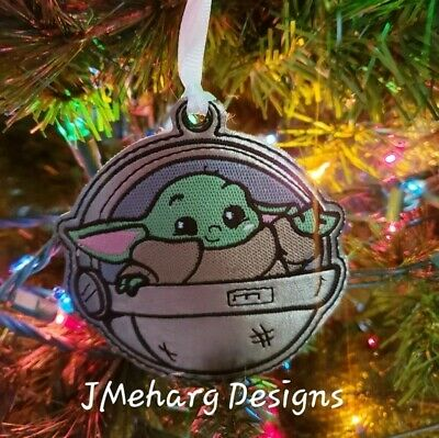 $15 • Buy FREE SHIPPING Custom Baby Yoda Christmas Ornament  (ONE) - Great Gift!