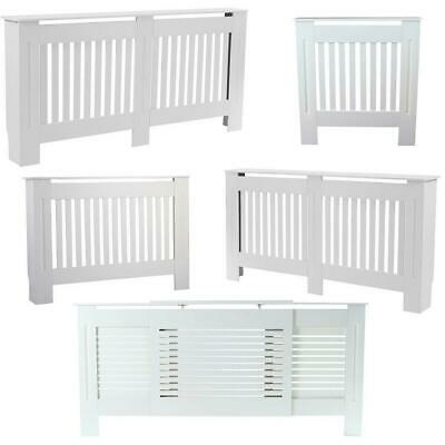 £27.95 • Buy Vertical Grill White Painted Modern MDF Wood Radiator Cover Cabinet