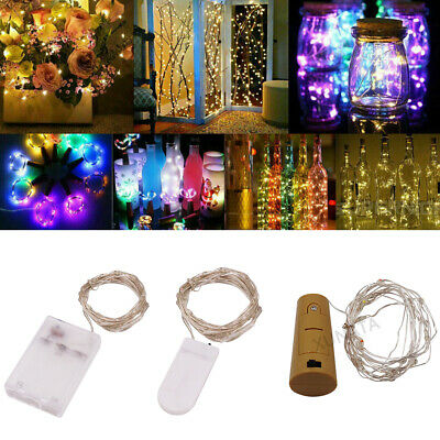 £0.99 • Buy Battery Operated LED Silver Wire Fairy Lights Xmas Wedding Counter Shop Decor