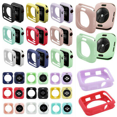 $ CDN4.09 • Buy Apple Watch Silicone Case Series 1 2 3 4 5 38 40 42 44 Mm IWatch Protector Cover