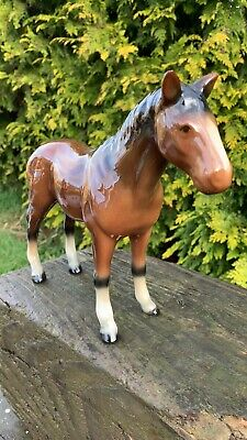 Beautiful Vintage Porcelain Pottery Horse Pony * • 29.99£