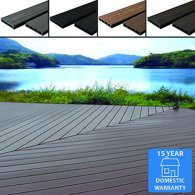 £29.99 • Buy Any Sqm Wpc Composite Decking Boards Complete Kits & Fixings 4 Colour Wood Grain