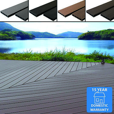 £34.99 • Buy Any Sqm Wpc Composite Decking Boards Complete Kits & Fixings 4 Colour Wood Grain
