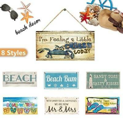 Uk Beach Signs Hanging Plaques Wooden Signs Gift House Seaside Decor 3.9''×7.8'' • 2.54£