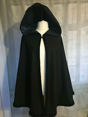 LADIES VICTORIAN / Edwardian / Regency STYLE CAPE With HOOD  COSTUME NEW • 49.99£