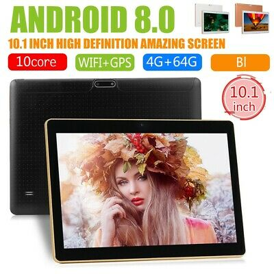 AU74.09 • Buy HD 10.1 Inch Android 8.0 Tablet PC 4+64GB Octa-Core WIFI 2 SIM Bluetooth Phablet