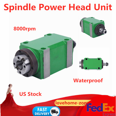 $279.01 • Buy 2HP 8000rpm Spindle Unit  Power Head For CNC Milling Machine Waterproof 1.5KW