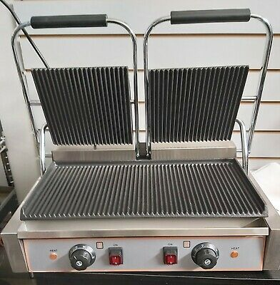 Commercial Electric Double Sided Twin Contact Grill Panini Maker  • 274.99£