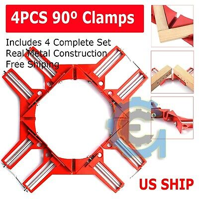 $17.95 • Buy 4X Metal Set DIY 90° Right Angle Clip Clamps Corner Holder Woodworking Hand Tool
