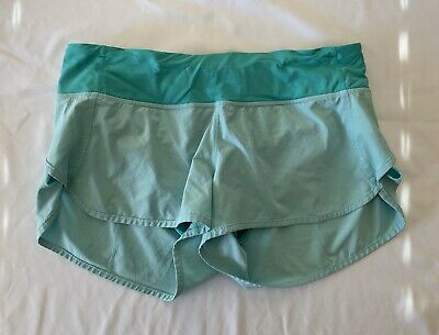 $36 • Buy Lululemon Women's Speed Shorts Yoga Gym Workout Running Mint Green Size 6