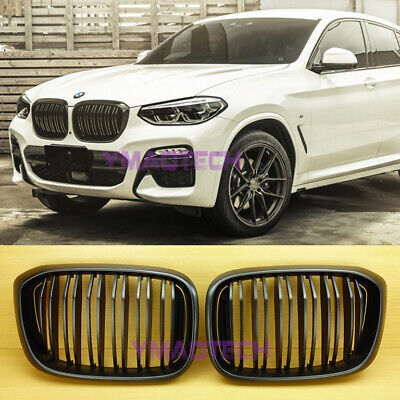 AU176 • Buy Fits BMW 2019-2022 X3 X3M G01 X4 G02 Matte Black M-Style Front Hood Kidney Grill