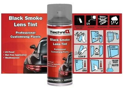 BACK TAIL LIGHT LENS SPRAY TINT TINTING SMOKE PAINT BLACK 400ML Aerosol Rear • 12.97£