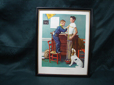$ CDN18.19 • Buy OPC Norman Rockwell Boy Scout To Keep Myself Physically Strong 14 X11  Framed Pr