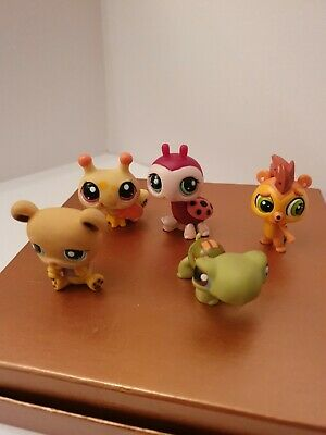 *Littlest Pet Shop* LPS Toy Figures X5 HASBRO 2005 Red/Pink Mag LOT#3 • 5.99£