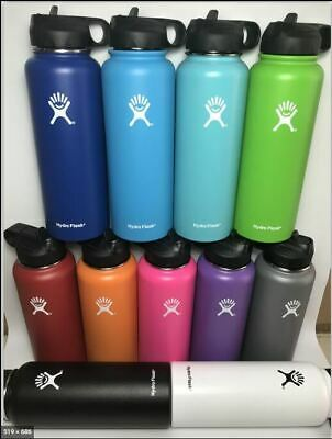 $29.99 • Buy 40 Oz Hydro Flask Stainless Steel Water Insulated Bottle Straw Lid Sport
