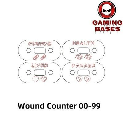 £9.09 • Buy Wargame Base World - Wound Counter/Tracker/Dial/Marker 00-99 Wound Counter -