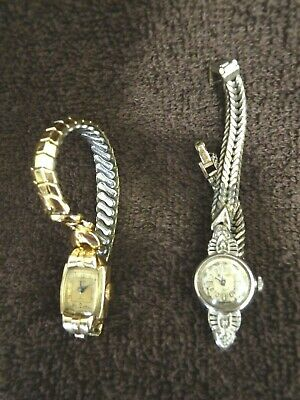 $ CDN29.99 • Buy VINTAGE LOT OF 2 BULOVA ROTARY SELF-WIND WATCHES GOLD EARLY TO MID 1900's