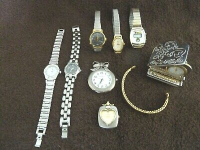 $ CDN9.99 • Buy Vintage Lot Of 9 Ladies' Watches, Novelty & Band Some Working..some For Parts