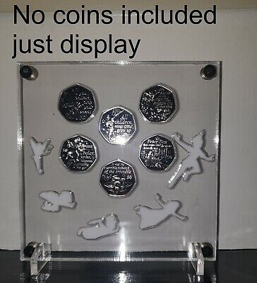 Peter Pan 50p Coin Stand Holder 50 Pence Display No Coins Included • 17.50£