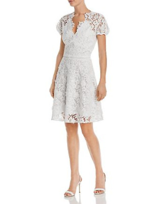 $90.99 • Buy Shoshanna Santenay Lace Fit-and-Flare Dress $398 Size 6 # 8A 1401 NEW